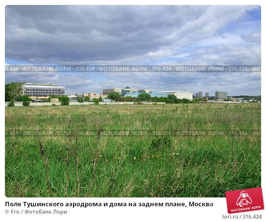 Поле Тушинского аэродрома и дома на заднем плане, Москва, фото № 316424, снято 31 мая 2008 г. (c) Fro / Фотобанк Лори