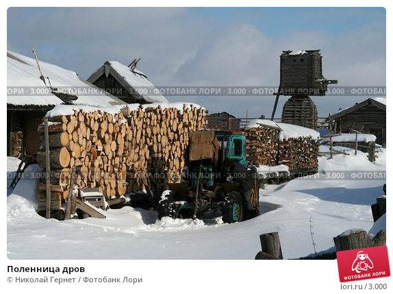 Поленница дров, фото № 3000, снято 28 марта 2006 г. (c) Николай Гернет / Фотобанк Лори