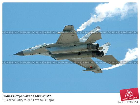 Полет истребителя МиГ-29М2, фото № 229104, снято 18 августа 2005 г. (c) Сергей Попсуевич / Фотобанк Лори