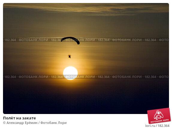 Полёт на закате, фото № 182364, снято 19 января 2008 г. (c) Александр Ерёмин / Фотобанк Лори