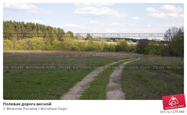 Купить «Полевая дорога весной», фото № 279944, снято 27 апреля 2008 г. (c) Вячеслав Потапов / Фотобанк Лори
