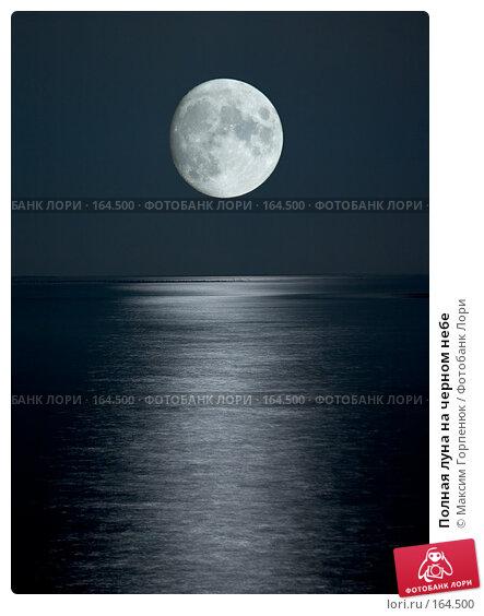Полная луна на черном небе, фото № 164500, снято 1 октября 2004 г. (c) Максим Горпенюк / Фотобанк Лори