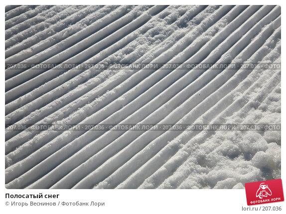 Полосатый снег, фото № 207036, снято 16 февраля 2008 г. (c) Игорь Веснинов / Фотобанк Лори