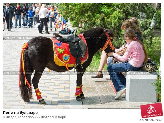 Пони на бульваре, фото № 269932, снято 1 мая 2008 г. (c) Федор Королевский / Фотобанк Лори