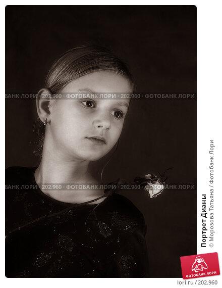 Портрет Дианы, фото № 202960, снято 13 октября 2004 г. (c) Морозова Татьяна / Фотобанк Лори