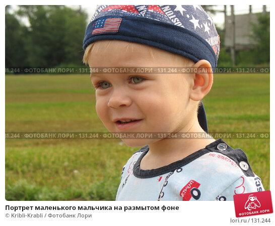 Портрет маленького мальчика на размытом фоне, фото № 131244, снято 5 августа 2007 г. (c) Kribli-Krabli / Фотобанк Лори