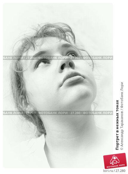 Портрет в нежных тонах, фото № 27280, снято 28 февраля 2017 г. (c) Александр Тараканов / Фотобанк Лори