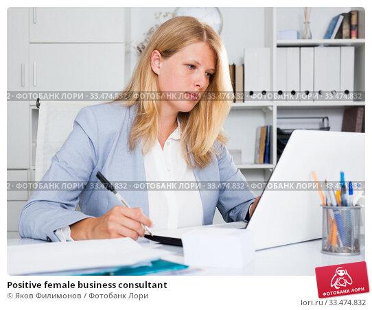 Positive female business consultant. Стоковое фото, фотограф Яков Филимонов / Фотобанк Лори