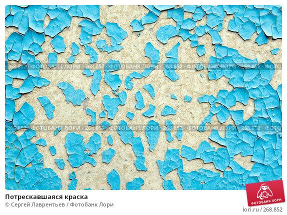 Потрескавшаяся краска, фото № 268852, снято 1 мая 2008 г. (c) Сергей Лаврентьев / Фотобанк Лори