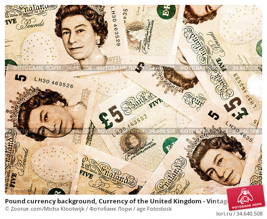 Pound currency background, Currency of the United Kingdom - Vintage... Стоковое фото, фотограф Zoonar.com/Micha Klootwijk / age Fotostock / Фотобанк Лори