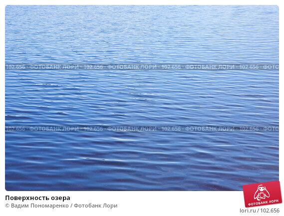 Купить «Поверхность озера», фото № 102656, снято 25 мая 2018 г. (c) Вадим Пономаренко / Фотобанк Лори