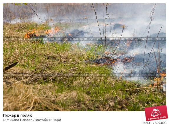 Пожар в полях, фото № 309000, снято 10 мая 2008 г. (c) Михаил Павлов / Фотобанк Лори