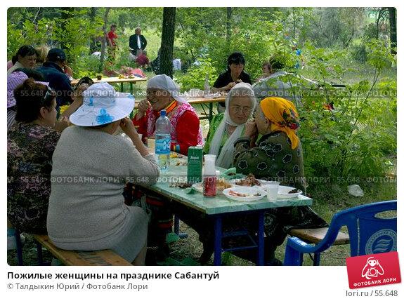 Пожилые женщины на празднике Сабантуй, фото № 55648, снято 23 июля 2017 г. (c) Талдыкин Юрий / Фотобанк Лори