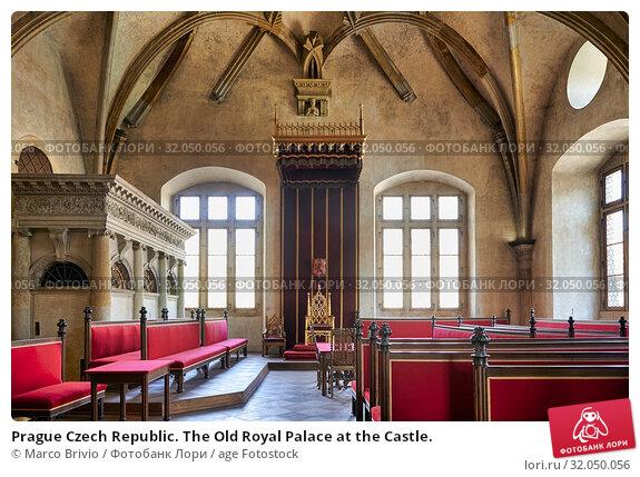 Prague Czech Republic. The Old Royal Palace at the Castle. Стоковое фото, фотограф Marco Brivio / age Fotostock / Фотобанк Лори