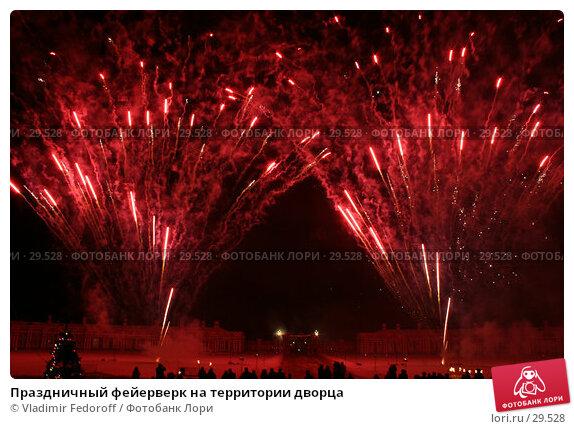 Праздничный фейерверк на территории дворца, фото № 29528, снято 28 декабря 2006 г. (c) Vladimir Fedoroff / Фотобанк Лори