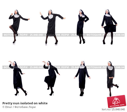 Купить «Pretty nun isolated on white», фото № 25848040, снято 1 декабря 2012 г. (c) Elnur / Фотобанк Лори