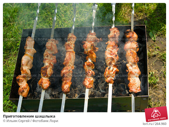 Приготовление шашлыка, фото № 264960, снято 1 июля 2007 г. (c) Ильин Сергей / Фотобанк Лори