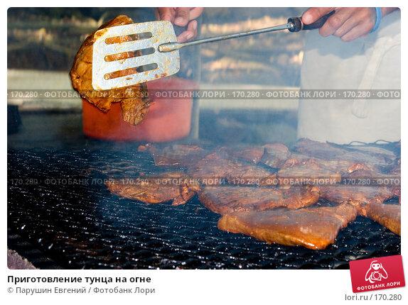 Приготовление тунца на огне, фото № 170280, снято 26 октября 2016 г. (c) Парушин Евгений / Фотобанк Лори