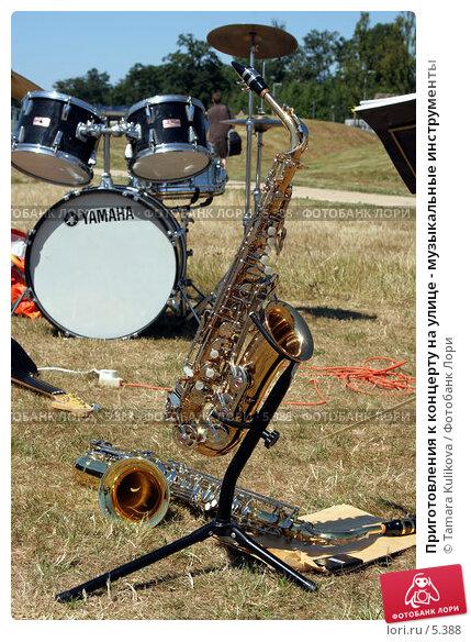 Приготовления к концерту на улице - музыкальные инструменты, фото № 5388, снято 15 июля 2006 г. (c) Tamara Kulikova / Фотобанк Лори