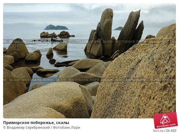 Приморское побережье, скалы, фото № 26420, снято 1 марта 2017 г. (c) Владимир Серебрянский / Фотобанк Лори