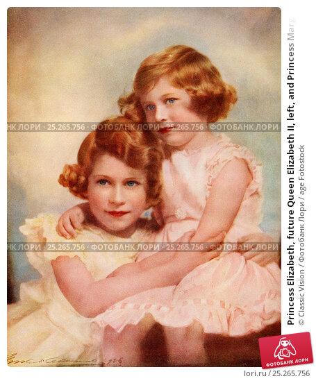 Купить «Princess Elizabeth, future Queen Elizabeth II, left, and Princess Margaret, right. Princess Elizabeth, future Elizabeth II, born 1926. Queen of the United...», фото № 25265756, снято 14 февраля 2020 г. (c) age Fotostock / Фотобанк Лори