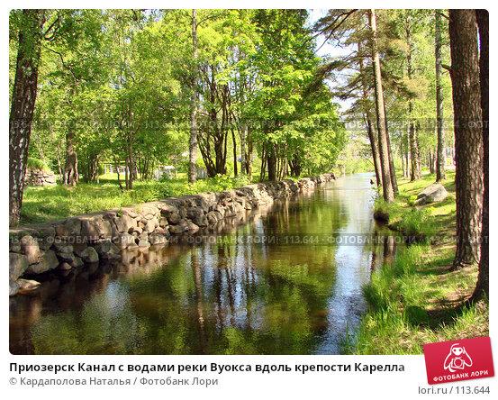 Приозерск Канал с водами реки Вуокса вдоль крепости Карелла, фото № 113644, снято 3 июня 2007 г. (c) Кардаполова Наталья / Фотобанк Лори