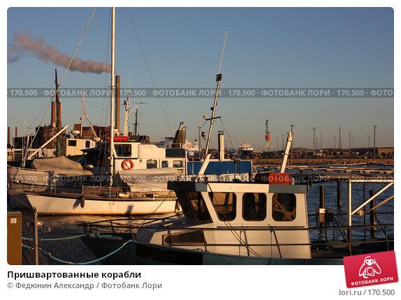 Пришвартованные корабли, фото № 170500, снято 4 января 2008 г. (c) Федюнин Александр / Фотобанк Лори