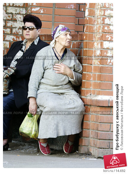 Про бабушку с авоськой овощей, фото № 14692, снято 27 июня 2005 г. (c) Лисовская Наталья / Фотобанк Лори