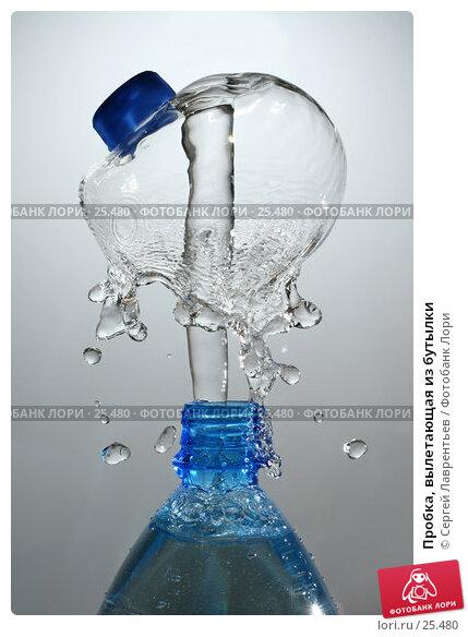 Пробка, вылетающая из бутылки, фото № 25480, снято 4 февраля 2007 г. (c) Сергей Лаврентьев / Фотобанк Лори