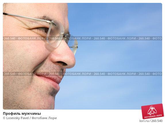 Профиль мужчины, фото № 260540, снято 21 июля 2017 г. (c) Losevsky Pavel / Фотобанк Лори