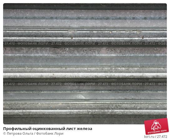 Профильный оцинкованный лист железа, фото № 27472, снято 22 марта 2007 г. (c) Петрова Ольга / Фотобанк Лори