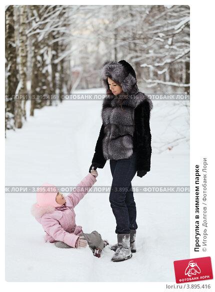Купить «Прогулка в зимнем парке», фото № 3895416, снято 24 декабря 2011 г. (c) Игорь Долгов / Фотобанк Лори