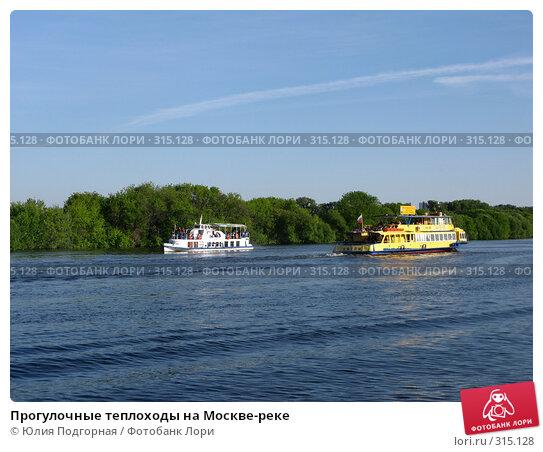 Прогулочные теплоходы на Москве-реке, фото № 315128, снято 8 июня 2008 г. (c) Юлия Селезнева / Фотобанк Лори