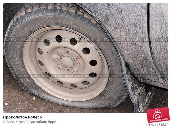 Купить «Проколотое колесо», фото № 234572, снято 27 марта 2008 г. (c) Anna Kavchik / Фотобанк Лори