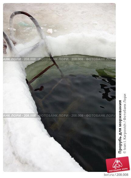 Прорубь для моржевания, фото № 208008, снято 19 января 2008 г. (c) Ivan I. Karpovich / Фотобанк Лори