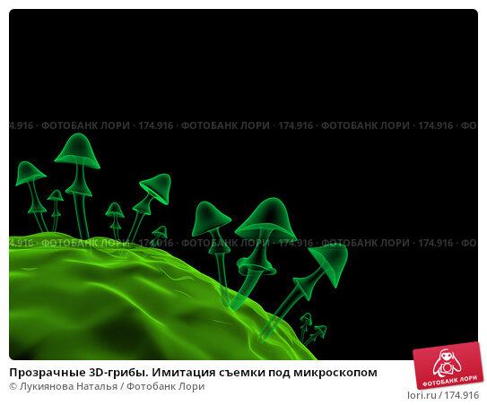 Купить «Прозрачные 3D-грибы. Имитация съемки под микроскопом», иллюстрация № 174916 (c) Лукиянова Наталья / Фотобанк Лори