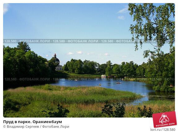 Пруд в парке. Ораниенбаум, фото № 128580, снято 17 января 2017 г. (c) Владимир Сергеев / Фотобанк Лори