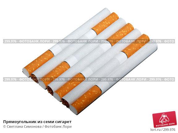 Прямоугольник из семи сигарет, фото № 299976, снято 9 мая 2008 г. (c) Светлана Симонова / Фотобанк Лори