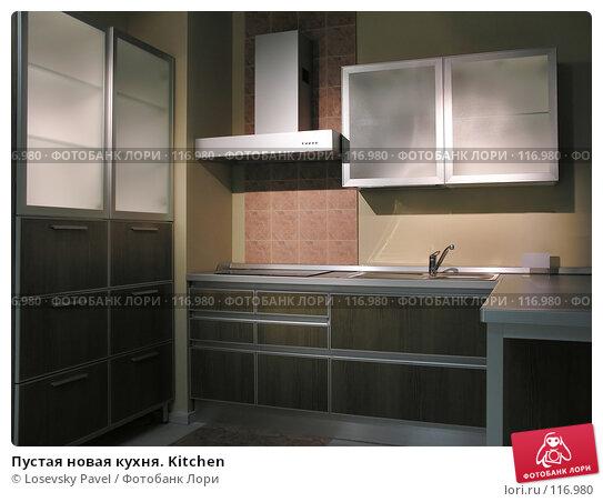 Пустая новая кухня. Kitchen, фото № 116980, снято 5 марта 2006 г. (c) Losevsky Pavel / Фотобанк Лори