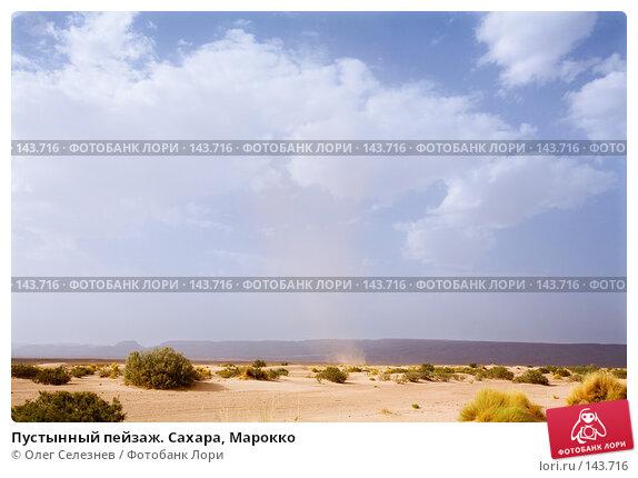 Пустынный пейзаж. Сахара, Марокко, фото № 143716, снято 18 августа 2007 г. (c) Олег Селезнев / Фотобанк Лори
