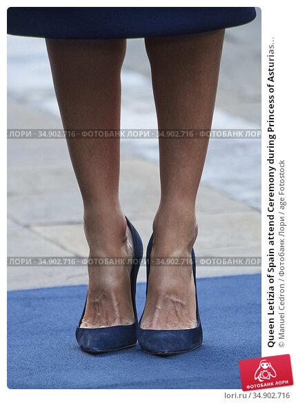 Queen Letizia of Spain attend Ceremony during Princess of Asturias... Редакционное фото, фотограф Manuel Cedron / age Fotostock / Фотобанк Лори