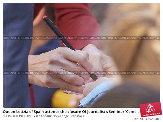 Купить «Queen Letizia of Spain attends the closure Of Journalist's Seminar 'Como Los Medios De Comunicacion Pueden Ayudar A Repoblar La España Rural' on June 12, 2019 in Burgo de Osma, Spain», фото № 30926488, снято 12 июня 2019 г. (c) age Fotostock / Фотобанк Лори