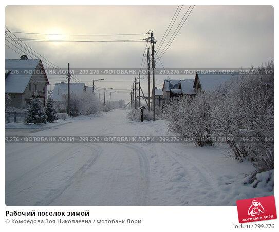 Рабочий поселок зимой, фото № 299276, снято 8 декабря 2007 г. (c) Комоедова Зоя Николаевна / Фотобанк Лори