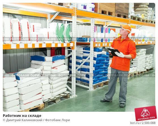 Купить «Работник на складе», фото № 2500088, снято 15 мая 2020 г. (c) Дмитрий Калиновский / Фотобанк Лори