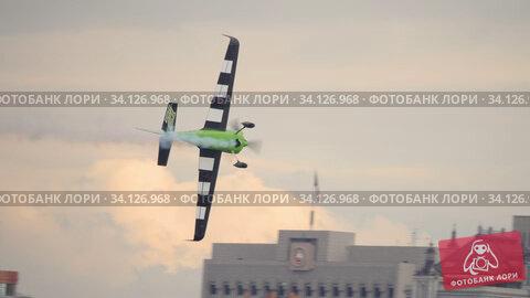 Купить «Racing airplane at the stage», видеоролик № 34126968, снято 15 июня 2019 г. (c) Игорь Жоров / Фотобанк Лори