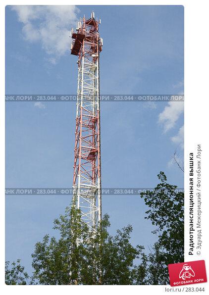 Радиотрансляционная вышка, фото № 283044, снято 12 мая 2008 г. (c) Эдуард Межерицкий / Фотобанк Лори
