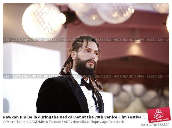 Rawkan Bin Bella during the Red carpet at the 78th Venice Film Festival... Редакционное фото, фотограф Mirco Toniolo / AGF/Mirco Toniolo / AGF / age Fotostock / Фотобанк Лори