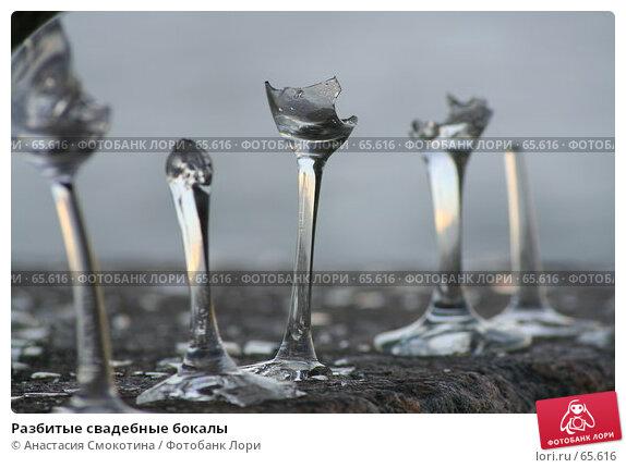 Разбитые свадебные бокалы, фото № 65616, снято 8 июня 2007 г. (c) Анастасия Смокотина / Фотобанк Лори