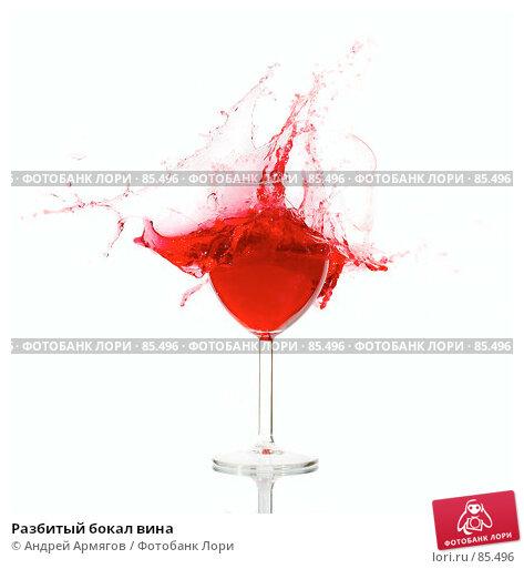 Разбитый бокал вина, фото № 85496, снято 14 августа 2007 г. (c) Андрей Армягов / Фотобанк Лори