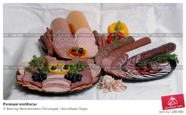 Разные колбасы, фото № 248900, снято 10 сентября 2003 г. (c) Виктор Филиппович Погонцев / Фотобанк Лори